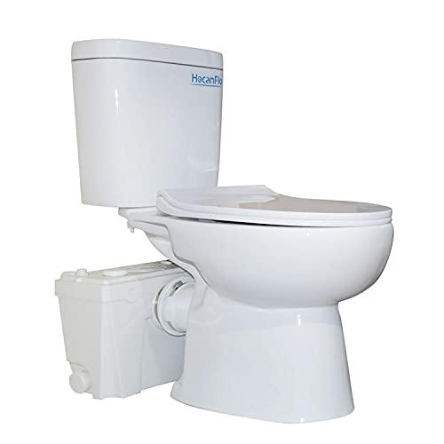 500 watt Macerating Toilet of Upflush Toilet for Basement Toilet System, Macerator Pump with 4 Water Inltes for Kitchen SInk, Bathroom, Laundry (500watt-1)