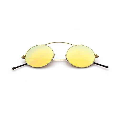 Spektre Met-ro Sonnenbrille Männer Frauen hoher Schutz spiegel gold Made in Italy