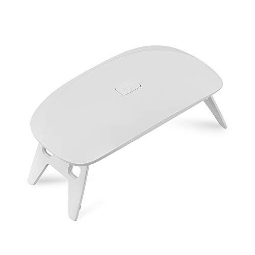 6W Ongles Séchoirs Nail Art Durcissement Machine Lampe USB Light Nail Gel Dryer Polonais, Outils Nail Art for Ongle Et Toenail Durcissement Cadeau (Couleur : Blanc)