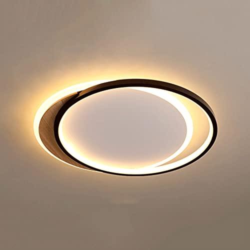 LXIANG Lámpara de techo negra, lámpara plana de dormitorio ovalado, luces de techo de sala de estar de alto brillo y ahorro de energía, lámparas de instalación empotradas LED ultrafinas, iluminación i
