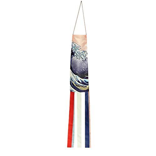 Yardwe 70 CM Koi Nobori Japonés Carpa Calcetines de Viento Koinobori Ondas Patrón Bandera de la Pesca Colgante Decoración de La Pared Festival Decoración Regalos
