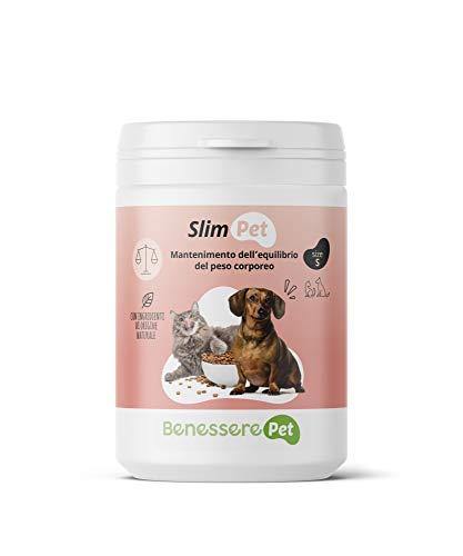 BenesserePet Slim Alimento Complementare per il Mantenimento dell'Equilibrio del Peso Corporeo di Cane e Gatto, Integratore PesoForma, accelera Metabolismo e controlla Senso di Fame (100 gr)