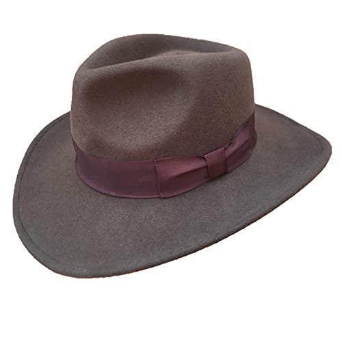 Lsdnlx Sombrero,Sombreros Fedora deVaquero triturables marrónSombrero Indiana Jones Outback