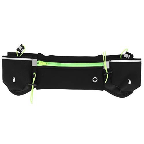 DAUERHAFT Riñonera para Correr de Gran Capacidad Riñonera para teléfono Diseño con múltiples Bolsillos Fácil de Llevar, Correr(Green)