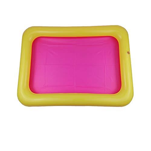 Bandeja de arena inflable Castillo Mesa móvil Caja de arena de PVC Bandeja sensorial Divertida Juego interior Juguetes Bandeja de piscina para niños