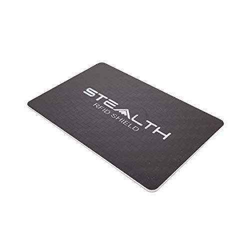 STEALTH Shield RFID-blokkeerkaart - RF/NFC-blocker met maximale sterkte voor bankcreditcard en identiteitsbescherming - Portemonnee-beveiliging voor illegaal contactloos scannen van kaarten (Zwart)
