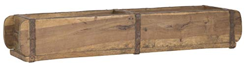 Jellinghaus Ziegelform Holz Aufbewahrung-Box Unika 1-Fach, 3-Fach, Doppelt (Doppel 57x15x10cm)