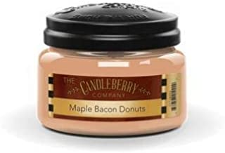 Candleberry Candle Maple Bacon Donuts, 10 oz. Jar, Scented Candle