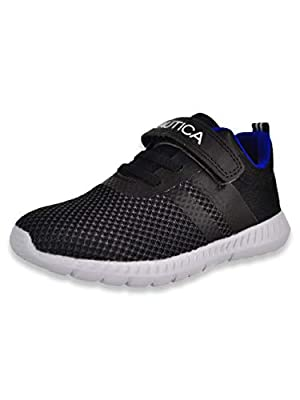 Nautica Kids Boys Fashion Sneaker Athletic Running Shoe with Stap for Toddler and Little Kids-Towhee-Black-12