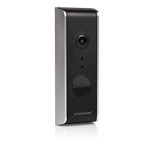 Smartwares DIC-23112 Wlan Türklingel/ IP Video Türsprechanlage, mit Ful HD Weitwinkelkamera, Aufnahmefunktion und Bewegungsmelder, App gesteuert
