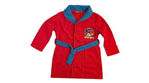 Angry Birds - Kinder Jugend Bademantel Rot 116 (6 Jahre)