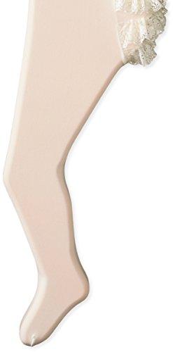 Jefferies Socks Baby Girls' Newborn Microfiber Rhumba Tights, Pearl, 18-24 Months