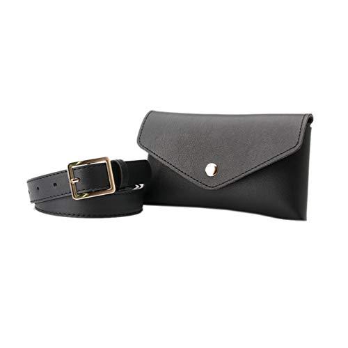 NUREINSS Damen Hüfttaschen Gürtel mit Tasche Hüfttaschen Ledergürtel Gürteltasche Bauchtasche Umschlag Tasche mit Taillengürtel