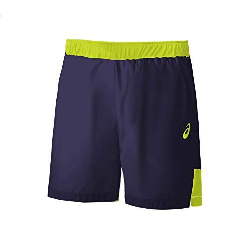 ASICS Club M 7in Short – Pantaloncini da Uomo, Uomo, Pantalone Corto, 2041A083, Giallo (Peacoat/Safety Yellow), M