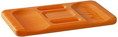 Kronen Hansa Kniekissen Ergo-Soft Mat, orange mit ergonomischer Formgebung, praktischer Tragegriff, 24 x 44 cm groß, 30 mm stark, 367190