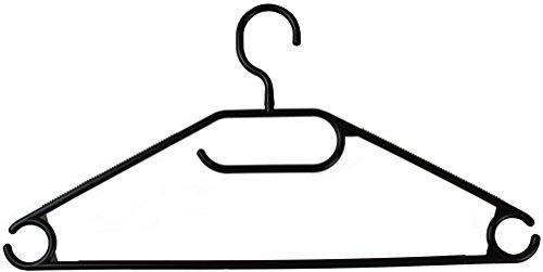 wns-emg-world Kleiderbügel Wäschebügel Hosenbügel Kunststoff drehbar 50 Stück Farbe Schwarz