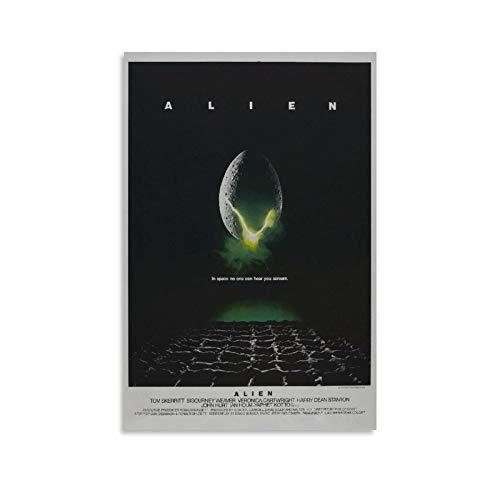 YGTD Alien 1979 Vintage Sci-Fi Horror Movie Wall Art Poster Regalos Dormitorio Decoración para el Hogar Cuadro Colgante Lienzo Pintura Posters 40 × 60 cm