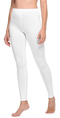 Ladeheid Legging Long Tenue Sport Femme LA40-133 (Blanc, S)