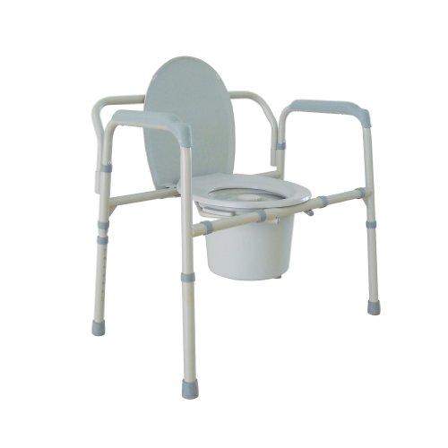 Drive Medical Heavy Duty Bariatric Folding Commode, Gray
