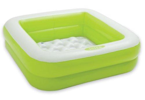 Intex Spielkiste, Swimming Pool, aufblasbar, quadratisch, für Babys und Kleinkinder, 57100, 57100, Grün 57100