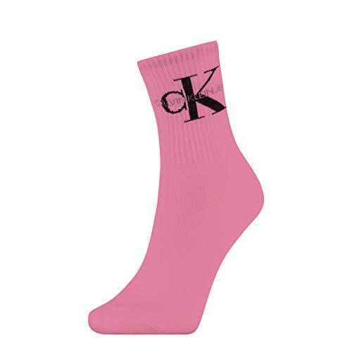 Calvin Klein Socks Womens Short 1p Jeans Logo Bowery Socks, Magenta, ONE Size