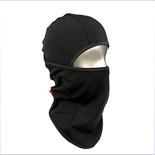 Warm Full Face Mask Cover,Winter Warmer Wind Proof, Fit Helmet Hat for Adults - Elastic Size Universal(Black)