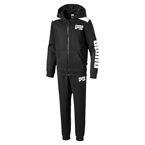 PUMA Jungen Trainingsanzug Rebel Bold FL B, Puma Black, 104, 580315