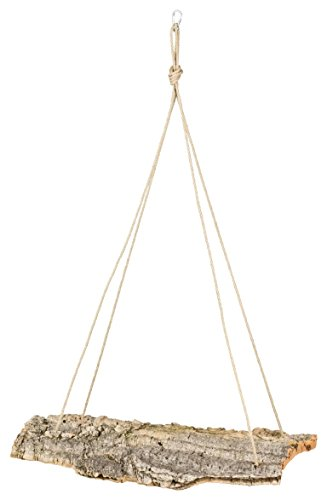 Kork-Schaukel XXL 50x20 cm für Vogel-Volieren. Schaukel aus Naturkork zum Anknabbern & Knuspern. | desinfiziert | Vogel Zubehör & Spielzeug aus Korkrinde (für Wellensittich, Papagei)