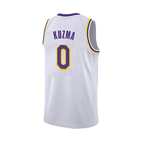 Trikot Herren Lakers Neue Saison Vintage weiß James, Kobe, Bauer, Kuzma Trikot Sommer atmungsaktives asketball Shorts 1Die Größe 0-L