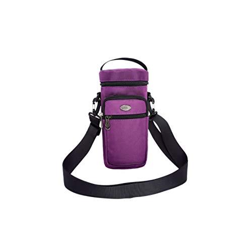 Verve Jelly Bolsa de transporte para botellas de agua de 50 onzas, bolsa Molle con correa acolchada ajustable y bolsillos para tarjetas de teléfono para caminar y senderismo (morado)