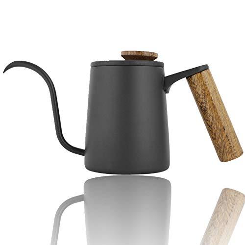 Cafetera, 350 ml Moda Mango de acero inoxidable Cafetera de goteo Caño largo de cuello de cisne Hervidor de café Goteo manual Verter sobre filtro de cafetera