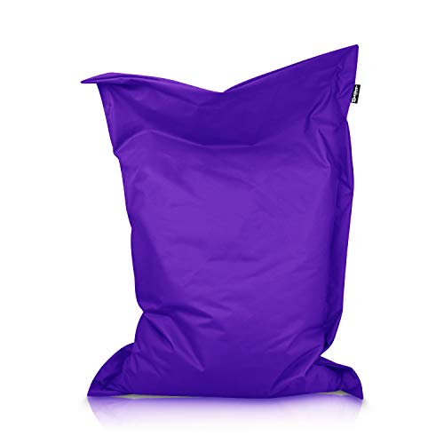 BuBiBag Sitzsack Beanbag rechteckige Bodenkissen 32 Farben & 11 Größen Indoor Outdoor Sitzsäcke RiesenBuBiBag Sitzsack Kindergarten Sitzkissen Schule Bean Bag (Lila-70x70cm)