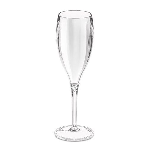 Koziol Cheers Verre à Champagne, Transparent, 4 pièces