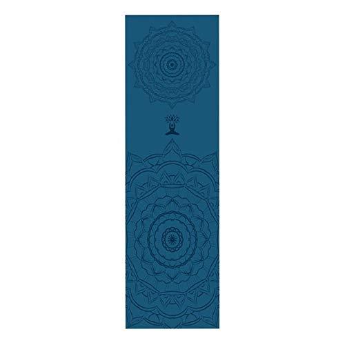weichuang Pro Yoga Mat 30 * 100 cm Portátil Fitness Yoga Deportes Toalla Esterilla Impresión Pilates Interior Exterior Deportes Suave Plegable Patrón Toalla Antideslizante (Color: B)