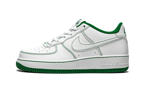 Nike Air Force 1 (GS), Scarpe da Basket, White/White-Pine Green, 37.5 EU