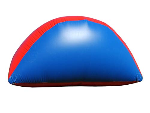 Sportogo Inflatable Air Bunker Wedge for Paintball, Airsoft, Archery, Laser Tag, 1 Piece, 4 Foot Tall, Blue & Red
