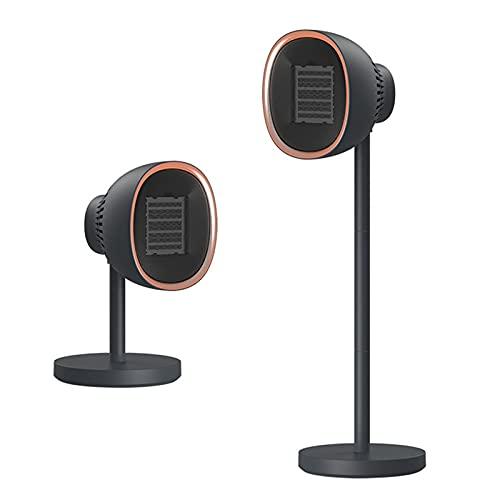 Ldfzq Vertikaler Keramik Heizlüfter, Höhenverstellbare und Oszillierende Funktion, 3 Heizstufen, Tragbare Heizung für Bad/Haus/Büro/Schlafzimmer (Color : Black)