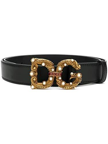Luxury Fashion | Dolce E Gabbana Dames BE1335AK13380999 Zwart Leer Riemen | Lente-zomer 20