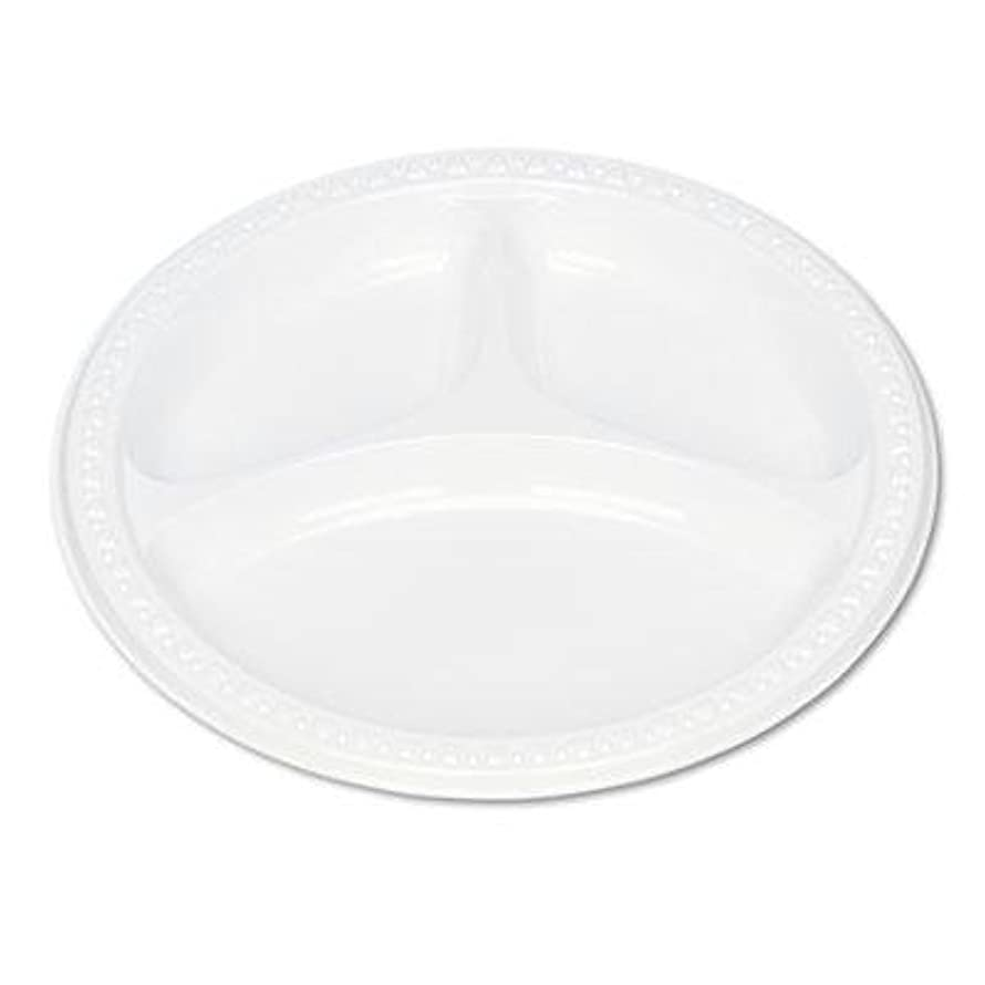 Tablemate - Plastic Dinnerware Compartment Plates 9