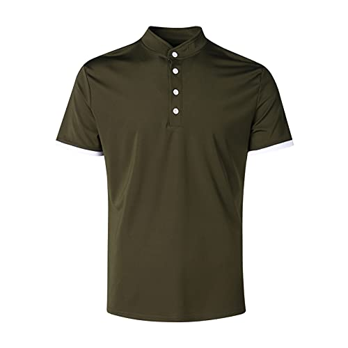 Nuevo 2021 Camiseta para Hombre,Verano Camiseta Deporte Manga corta Color sólido Polo Moda Diario Slim Fit Casuales T-shirt Blusas originales camisas algodón suave básica Camisetas