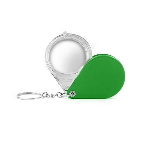 YEESEU Plegable Llavero Lupa de Bolsillo 10X Lupa Colorido Portable de la joyería Mini Lupa de Lectura de artículos pequeños Lupa (Color : As pic5)