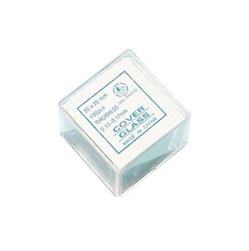 Sale San Diego Mall item MUHWA 20mm Square Microscope Glass Cover Slips Coverslips Pack
