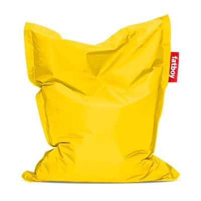 Fatboy® Original Sitzsack Junior | Klassisches Indoor Sitzkissen speziell für Kinder in Gelb | 130 x 100 cm