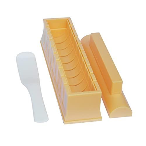 YUTRD ZCJUX Espesor e oblongo Conjunto de moldes de Sushi de Sushi de Sushi Fabricante de Algas Marinas rellenas de arroz máquina Herramienta de Herramientas de la Cocina de Japón Accesorios de Bento