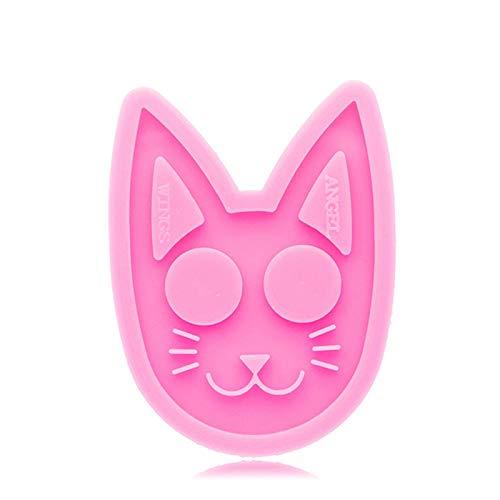 Bulabula - Mold de silicona con forma de gato brillante