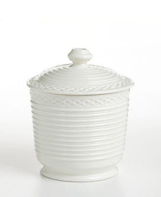 "Martha Stewart Collection ""Trousseau"" Jar White"
