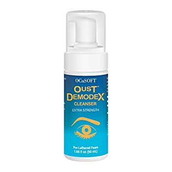 OCuSOFT Oust Demodex Cleanser Extra Strength Foam 50 Milliters Tea Tree Oil Foaming Cleanser for Irritated Eyelids Associated with Demodex Mites