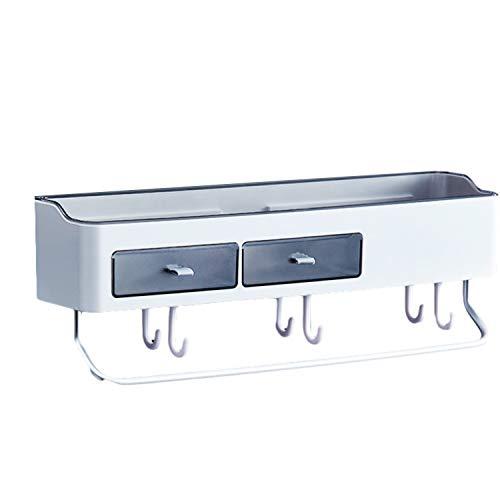 ZYLBL Estante de baño extraíble para ducha, estante de almacenamiento de pared, sin perforaciones, organizador de almacenamiento de pared, accesorios de baño (C)