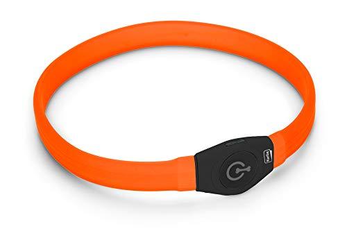 Karlie Collar for Long Haired Dogs K VISIO Light LED para Pelo Largo, 65 X 2,5 CM, Naranja, No Aplica