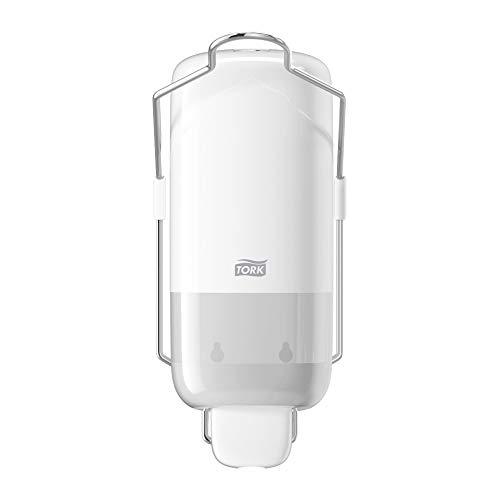 Tork Seifenspender mit Armhebel für Flüssigseife und Hände-Desinfektionsmittel, Elevation - 560100 - Hygienisches, auslaufsicheres S1 Spender-System, weiß